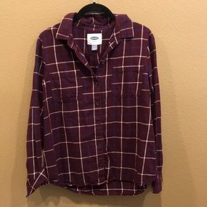 Maroon Plaid Shirt